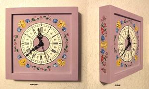 Wall clock - rose colour