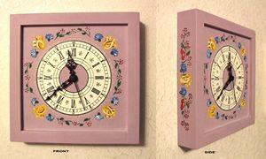 Wall clock - rose colour - Lenn-Art