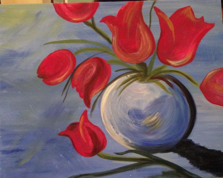 Tulips - Paintings by Tyra