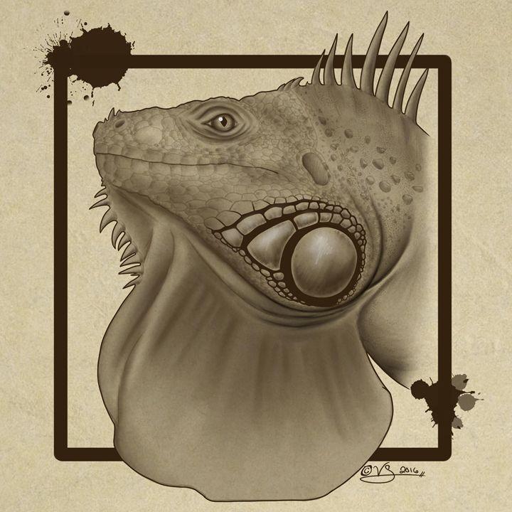 Iguana Owner Art - TrixieTheTrickster