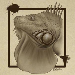 Iguana Owner Art