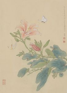 Bauhinia and Butterfly