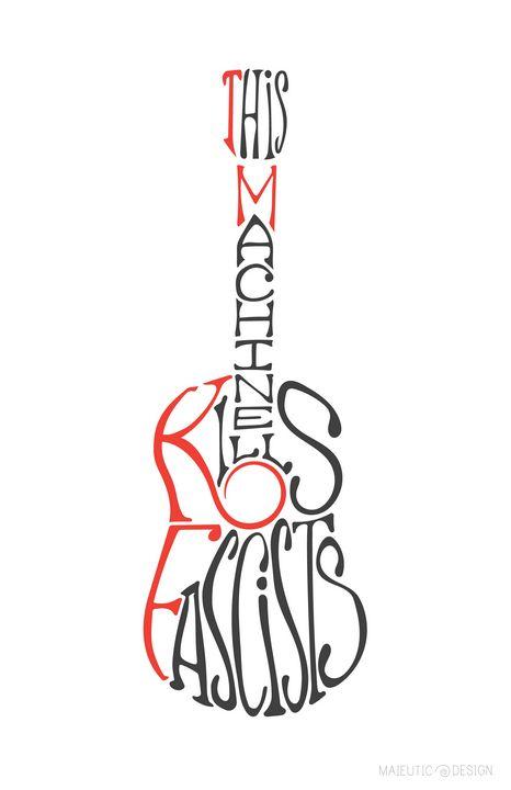 THIS MACHINE KILLS - red TMKF on wht - Maieutic Design