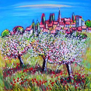 village provençal au printemps