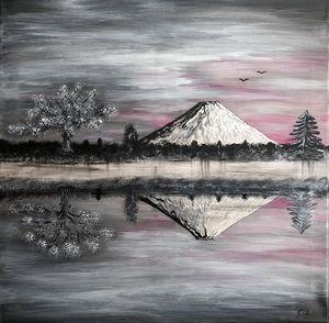 Le cerisier en fleurs du mont Fuji