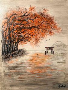Les arbres rouges et le torii (red)