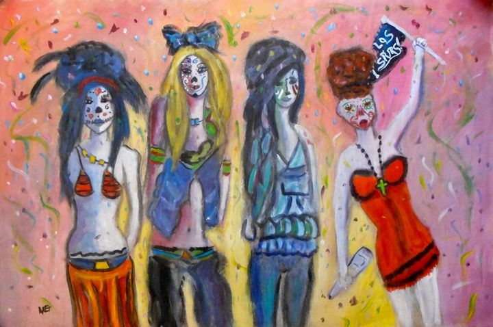 Los Spurs Gals! - Ang's Art