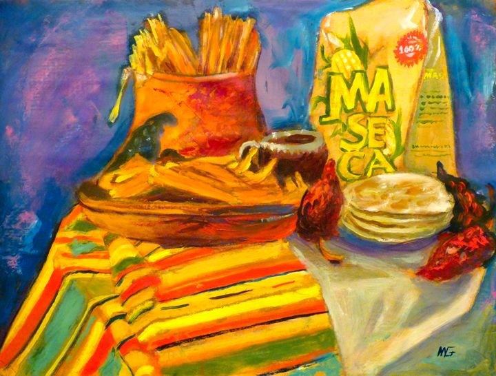 Mexican Still Life 1 - Ang's Art