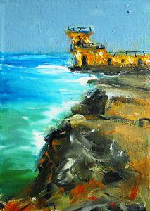 painting of blackrock  galway