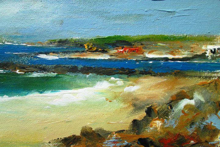 irish land and seascape painting - www.pixi-art.com