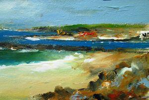 irish land and seascape painting