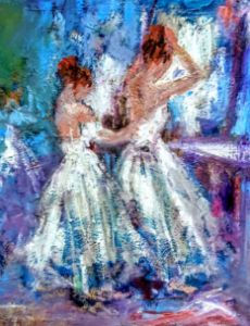 After gaugin painting of ballerinas - www.pixi-art.com