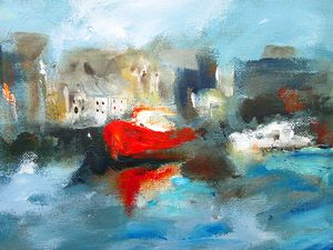 painting of galway harbour ireland