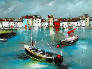 painting of galway  ireland