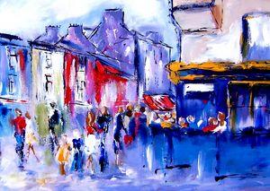 painting: Quay street galway ireland