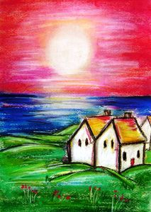 Paintings of  irish cottages
