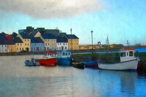 artwork  of galway city ireland