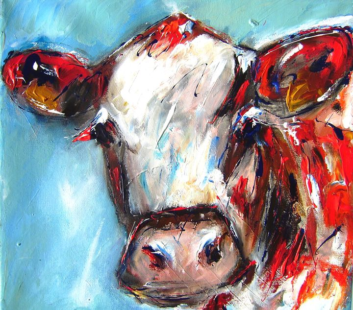 Curious cow - www.pixi-art.com
