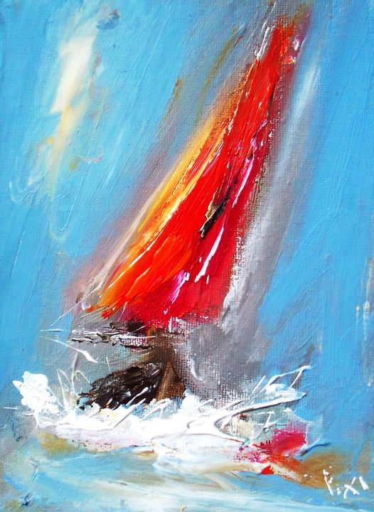sails in oil - www.pixi-art.com