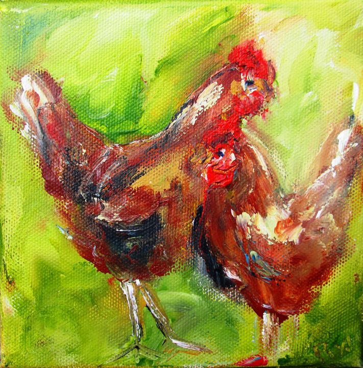 2 chickens www.pixi-art.com - www.pixi-art.com