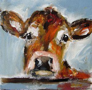 painting of an irish bovine cow