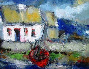 irish cottage by atlantic ocean
