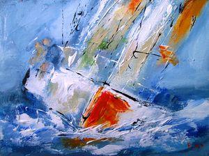 paiwild sails on the atlantic ocean
