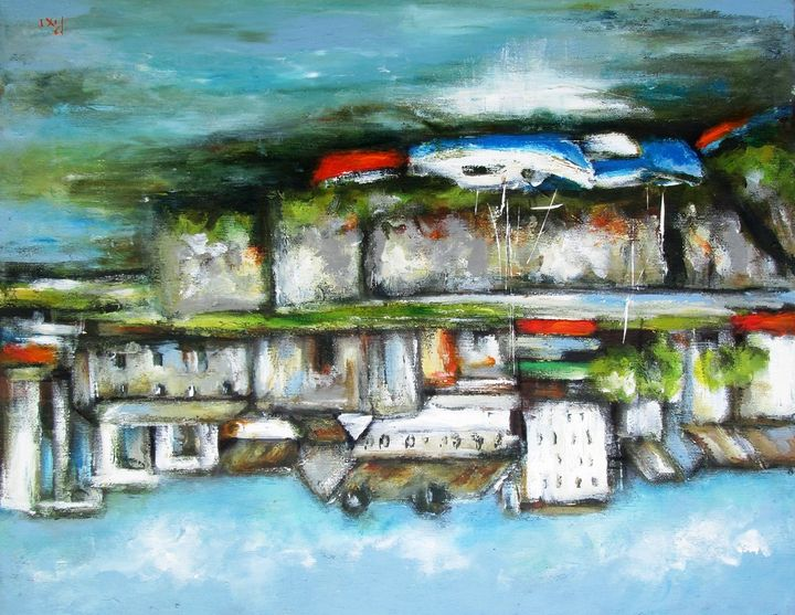 galway city landscape - www.pixi-art.com