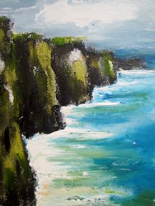 Painting of Moher cliffs 2019
