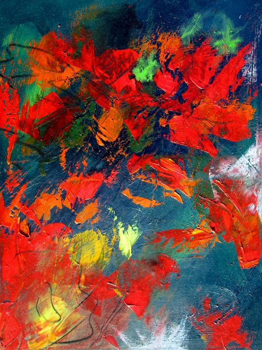 semi abstract floral print from pixi - www.pixi-art.com