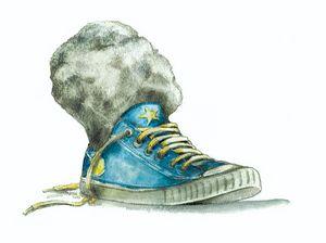Stone & sneaker