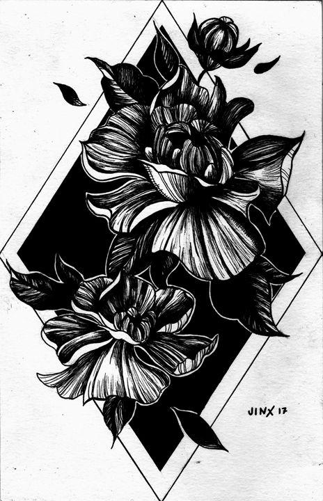 Flower Tattoo Design - Jinx Rose