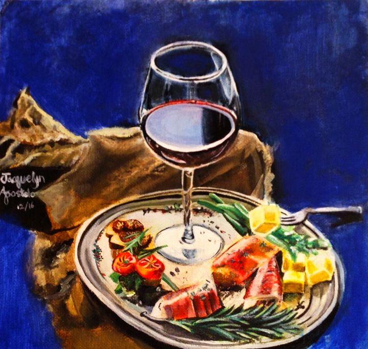 Wine Glass Study - Jinx Rose