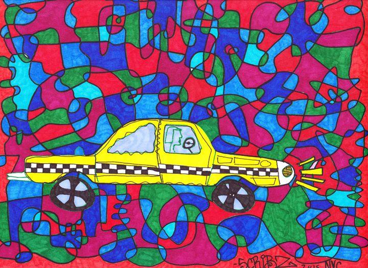 TAXI CAB - Scribz Pop Art