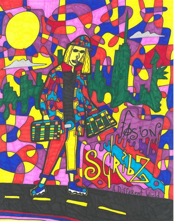 Happy Fashion Scribz - Scribz Pop Art