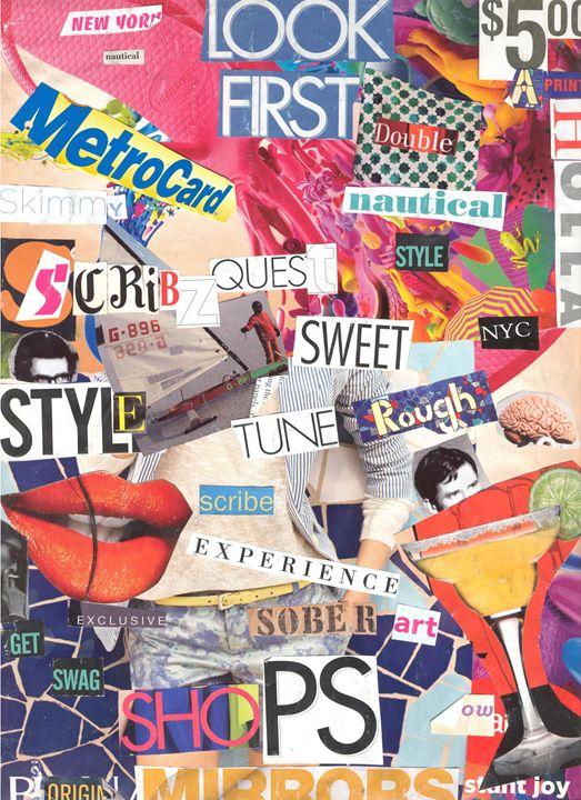 Scribz Original Collage - Scribz Pop Art