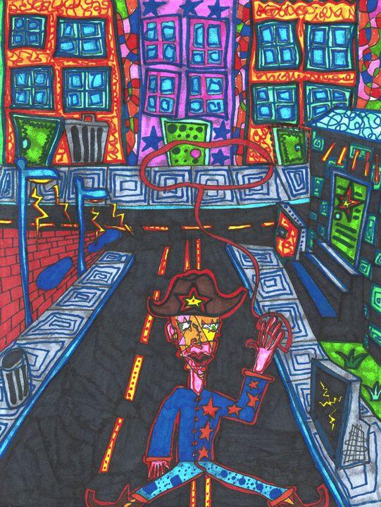 City Cowboy - Scribz Pop Art