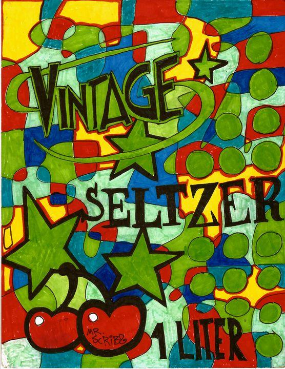 VINTAGE SELTZER - Scribz Pop Art