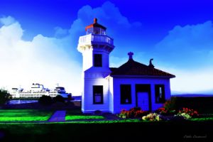 Ferry at Mukilteo Lighthouse Park - Eddie Eastwood