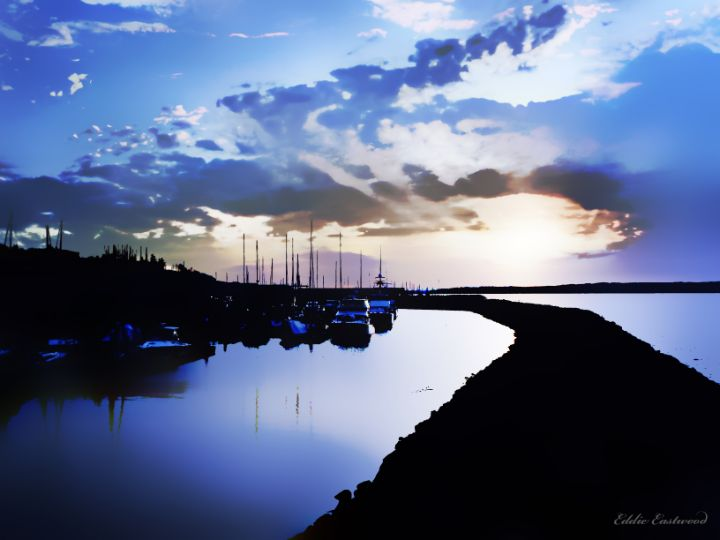Evening at Edmonds Boat Marina - Eddie Eastwood