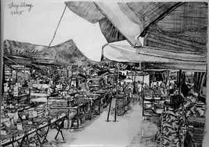 Tongkang Pecah Pasar Bagi (Morning)