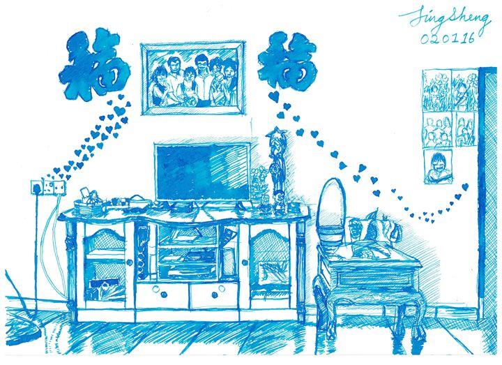 Malaysia Home Living Room Sketch - Tay Jing Sheng