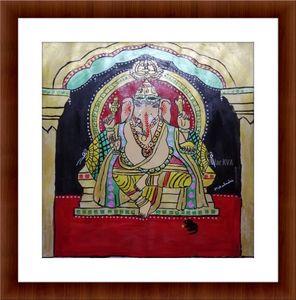 Tanjore painting Lord ganesh