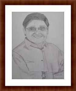 Kiran Bedi Pencil Sketch