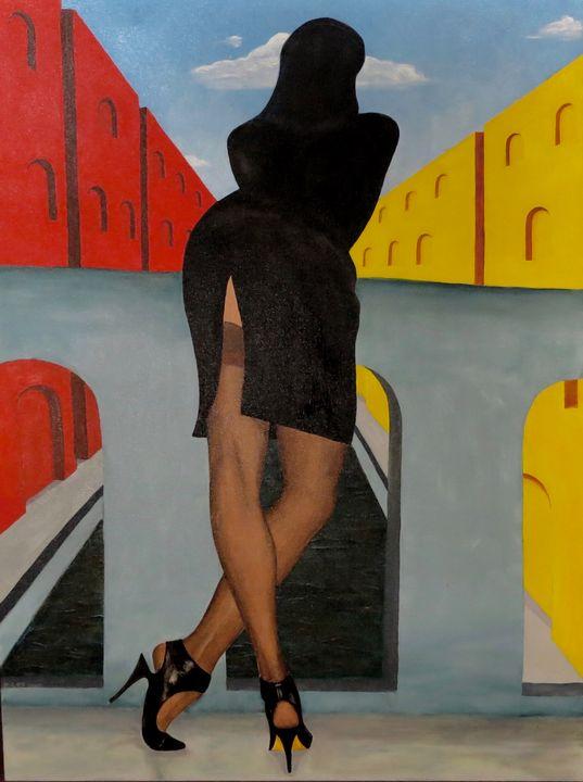 Alita on Bridge in Tangier - Riley+Mallette Fine Art