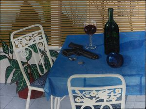 back porch still life