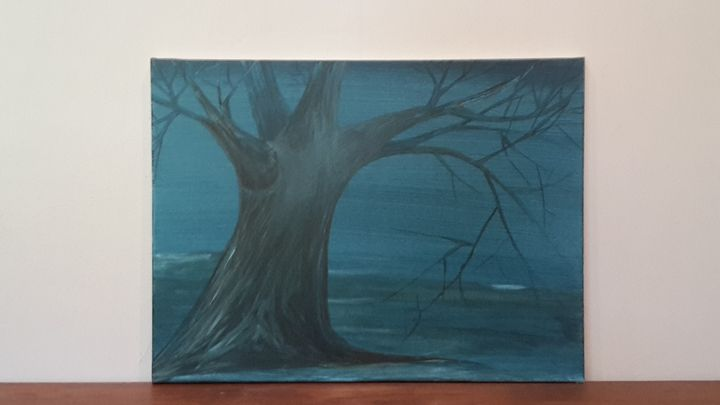 Tree at Dusk - Justin's Art Shop