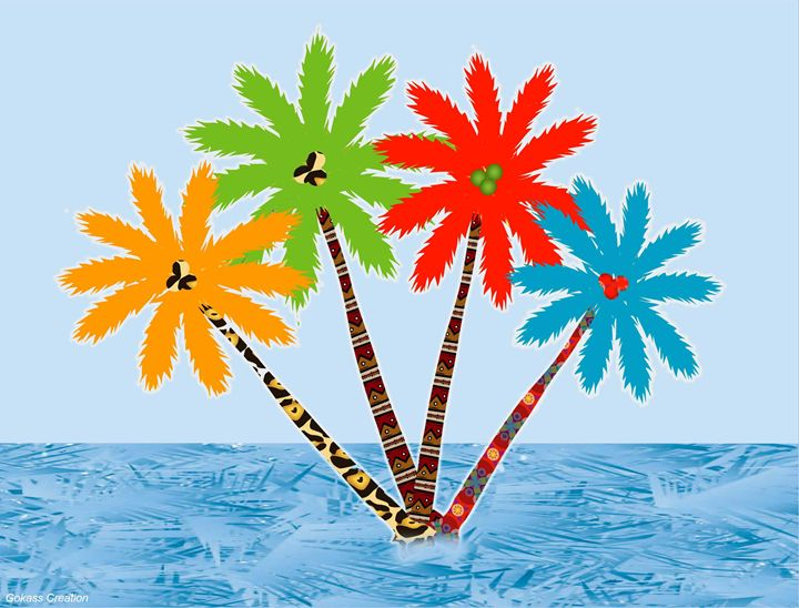 Palm trees on the sea-Gabriel Kasumu - Gabriel Kasumu