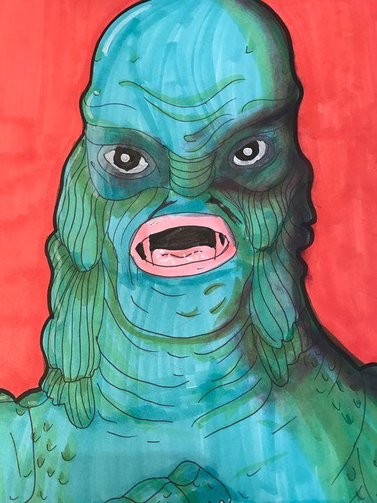 Creature From The Black Lagoon - Sweet Tart Art