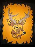 Buck in the flames